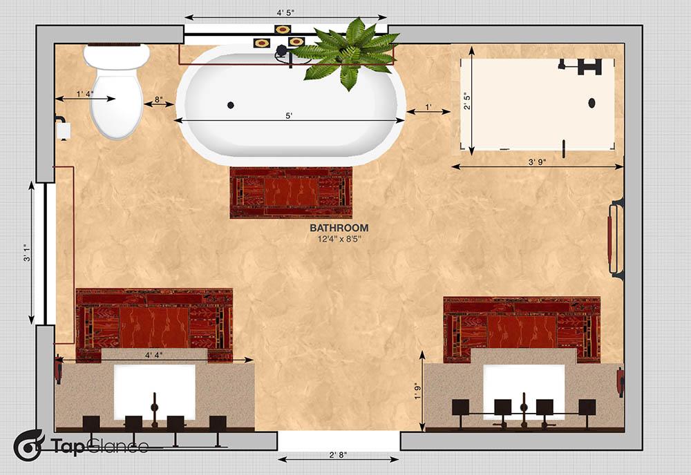 CAD Muskego Bath Dimensions