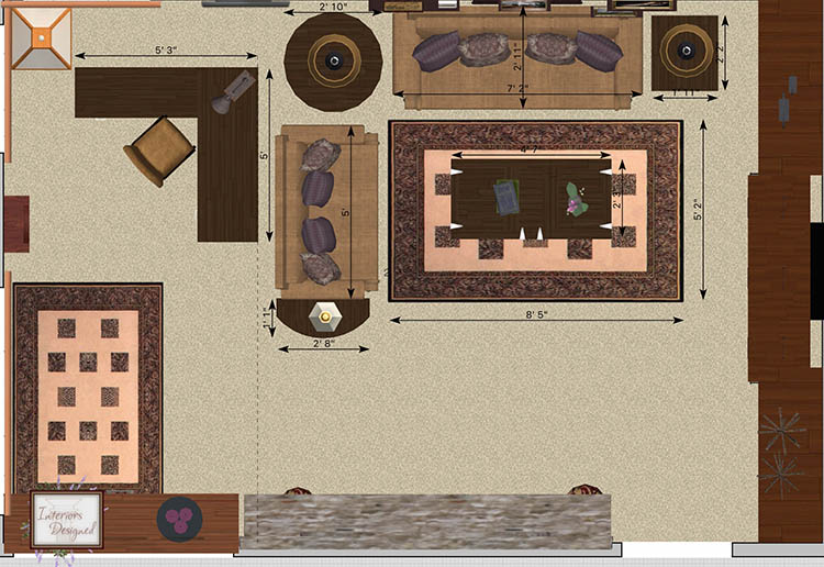 Furniture Layout Mockup